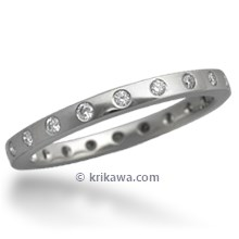 Straight Diamond Band with 1.5 mm Rounds