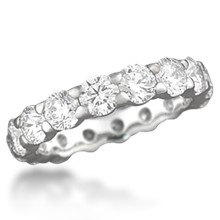 Diamond Pave Eternity Wedding Band