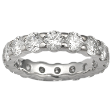 Diamond Pave Eternity Wedding Band - top view