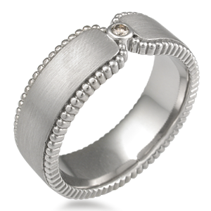 wedding band to nestle snugly under the stone setting and against the