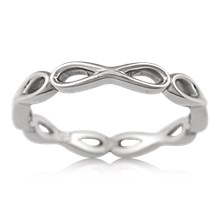 Simple Infinity Wedding Band - top view