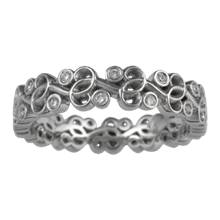 Infinity Vine Diamond Wedding Band - top view