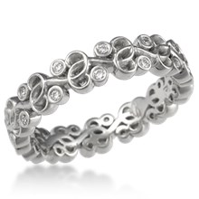 Infinity Vine Diamond Wedding Band
