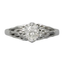 Tree of Life Engagement Ring - top view