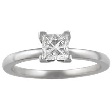 Modern Prong Setting Engagement Ring - top view