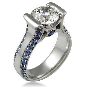 Modern Juicy Liqueur Engagement Ring