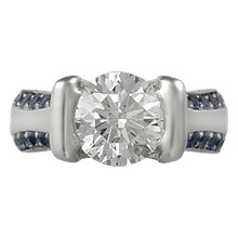 Modern Juicy Liqueur Engagement Ring - top view