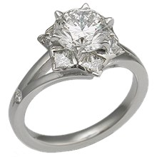Snowflake Engagement Ring