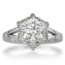 Snowflake Engagement Ring - top view