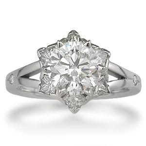 Snowflake Engagement Ring