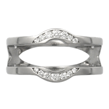 Crescent Diamond Band Enhancer - top view