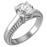 Ripple Solitaire Engagement Ring