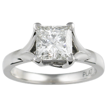 Angel Solitaire Engagement Ring - top view