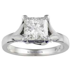 Angel Solitaire Engagement Ring