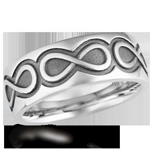 Mens Infinity Symbol Wedding Bands at Krikawa