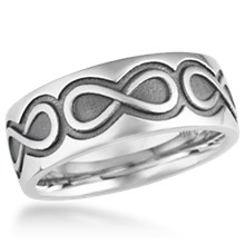 Infinity Eternity Wedding Band
