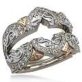Ornate Engagement Ring Enhancer 1.20ctw