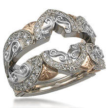 Ornate Engagement Ring Enhancer 1.20ctw