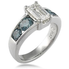 Modern Five Stone Engagement Ring
