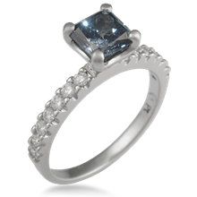 Pave Prong Engagement Ring