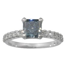 Pave Prong Engagement Ring - top view