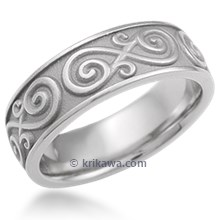 Contemporary Infinity Wedding Band