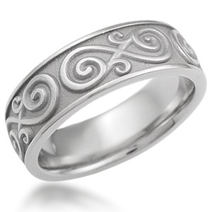 Eternity Symbol Contemporary Infinity Wedding Band