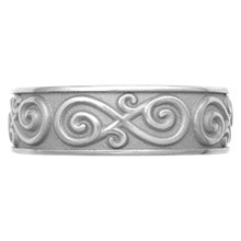 Eternity Symbol Contemporary Infinity Wedding Band - top view