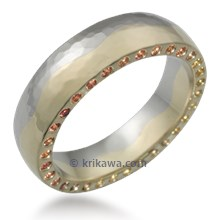 Sun and Moon Wedding Band