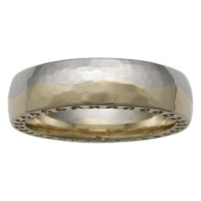 Sun and Moon Wedding Band - top view