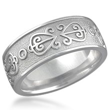 African Symbol Wedding Band