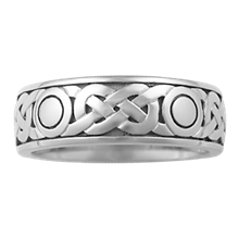 Sailor's Knot Eternity Symbol Wedding Band - top view