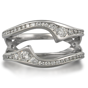 Diamond Accented Engagement Ring Enhancer