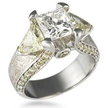 Three Stone Juicy Light Engagement Ring