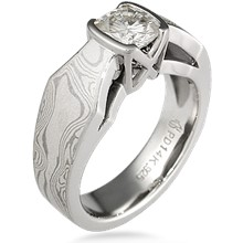 Mokume Borealis Light Engagement Ring