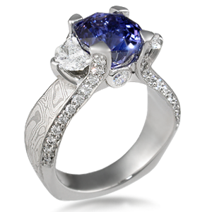 Pave Delight Mokume Three Stone Engagement Ring. $3000 Wedding Rings. Magical Wedding Rings. First Baby Engagement Rings. Top Wedding Band Wedding Rings. Slim Engagement Rings. Core Rings. Countdown Engagement Rings. Valdosta State Rings