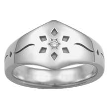 Snowflake Diamond Wedding Band - top view