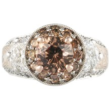 Juicy Goddess Luxury Engagement Ring - top view