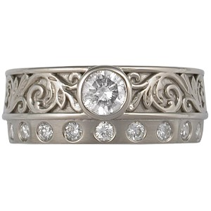 Western Floral Engagement Ring