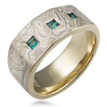 Prince Diamond Mokume Wedding Band