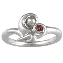 Mother and Child Ring - top view