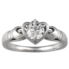 Unique Claddagh Engagement Ring - top view