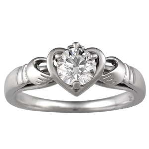 Unique Claddagh Engagement Ring