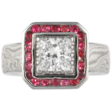 Princess of Everything Engagement Ring - top view