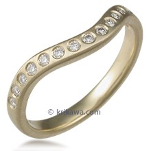 Diamond Orbit Contoured Wedding Band