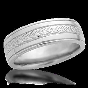 Hand engraved wedding bands