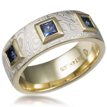 Mokume Prince Crown Wedding Band