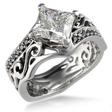 Tribal Pave Engagement Ring