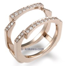 Hand Cut Pave Diamond Enhancer 0.34ctw