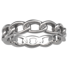 Eternal Chain Wedding Band - top view